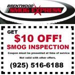 Get $10 OFF Smog Inspection!